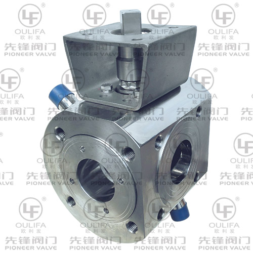 Wafer Type Jacketed Three Way Ball Valve