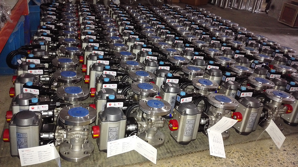 Ex-proof Pneumatic Ball Valve use in Chemical Plant