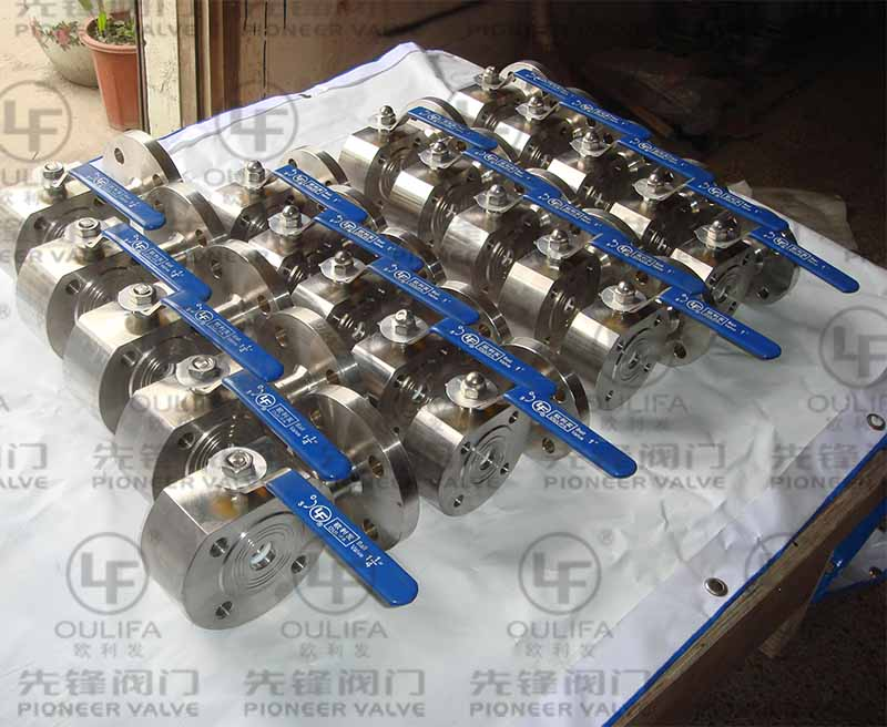 3-Way Wafer Type Ball Valve Already For Shipment