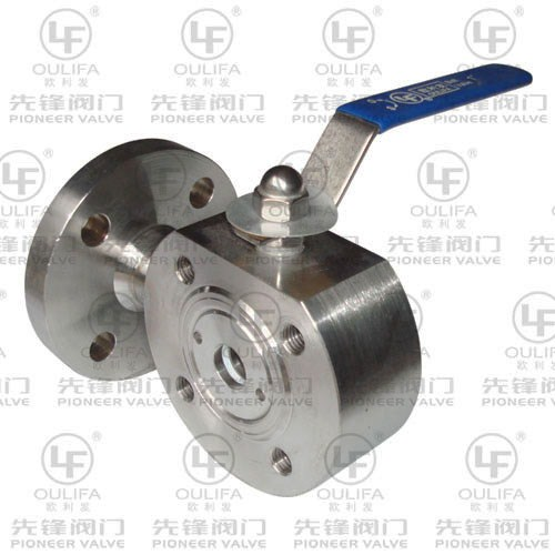 Wafer Type 3-Way Ball Valve SQ74F