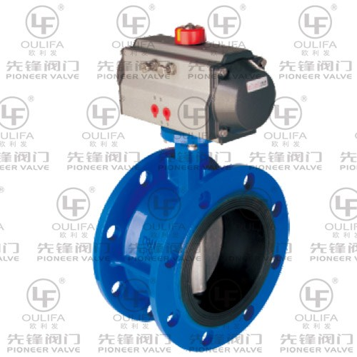 Pneumatic Flanged Butterfly Valve D641X