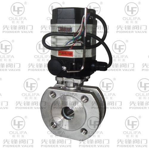Subminiature Quarter Turn Electric Wafer Type V-Port Ball Valve VPSQ72F