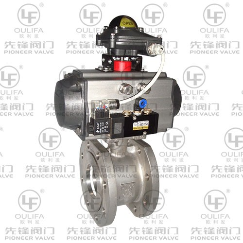 Pneumatic Flanged Ball Valve PSQ672F