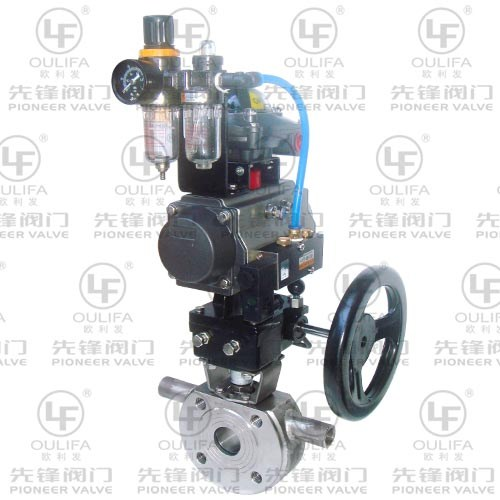 Pneumatic Jacketed Ball Valve BQ673F