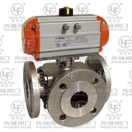 Flanged 3-Way Ball Valve PQ44F