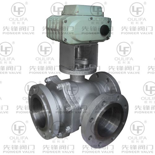 Electric Flanged 3-Way Ball Valve Q944F