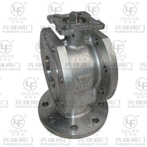 Vertical Flanged 3-Way Ball Valve PSQ73F