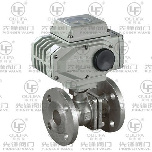 Electric Flanged Ball Valve with Direct Mounting Pad PQ941F