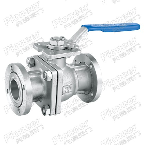 Manual High Vacuum Flanged Ball Valve GU-40F