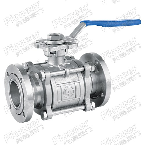 3PC High Vacuum Ball Valve GU-50F