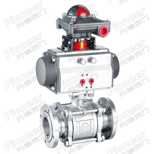 Pneumatic High Vacuum Flange Ball Valve GUQ-50F