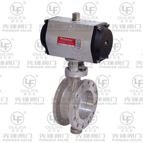 Pneumatic Metal Seated Butterfly Valve D643H