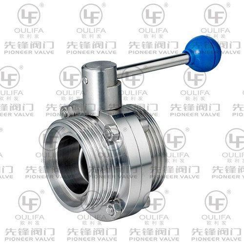 Sanitary Threaded Butterfly Valve WD21F
