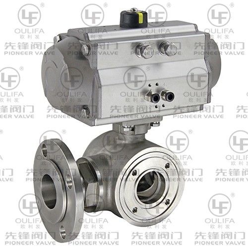 Wafer End 3-Way Ball Valve XQ675F-150Lb