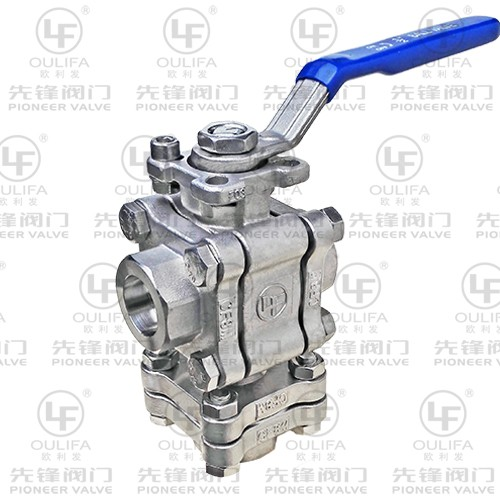 Three-Piece 3-Way Ball Valve PQ13F